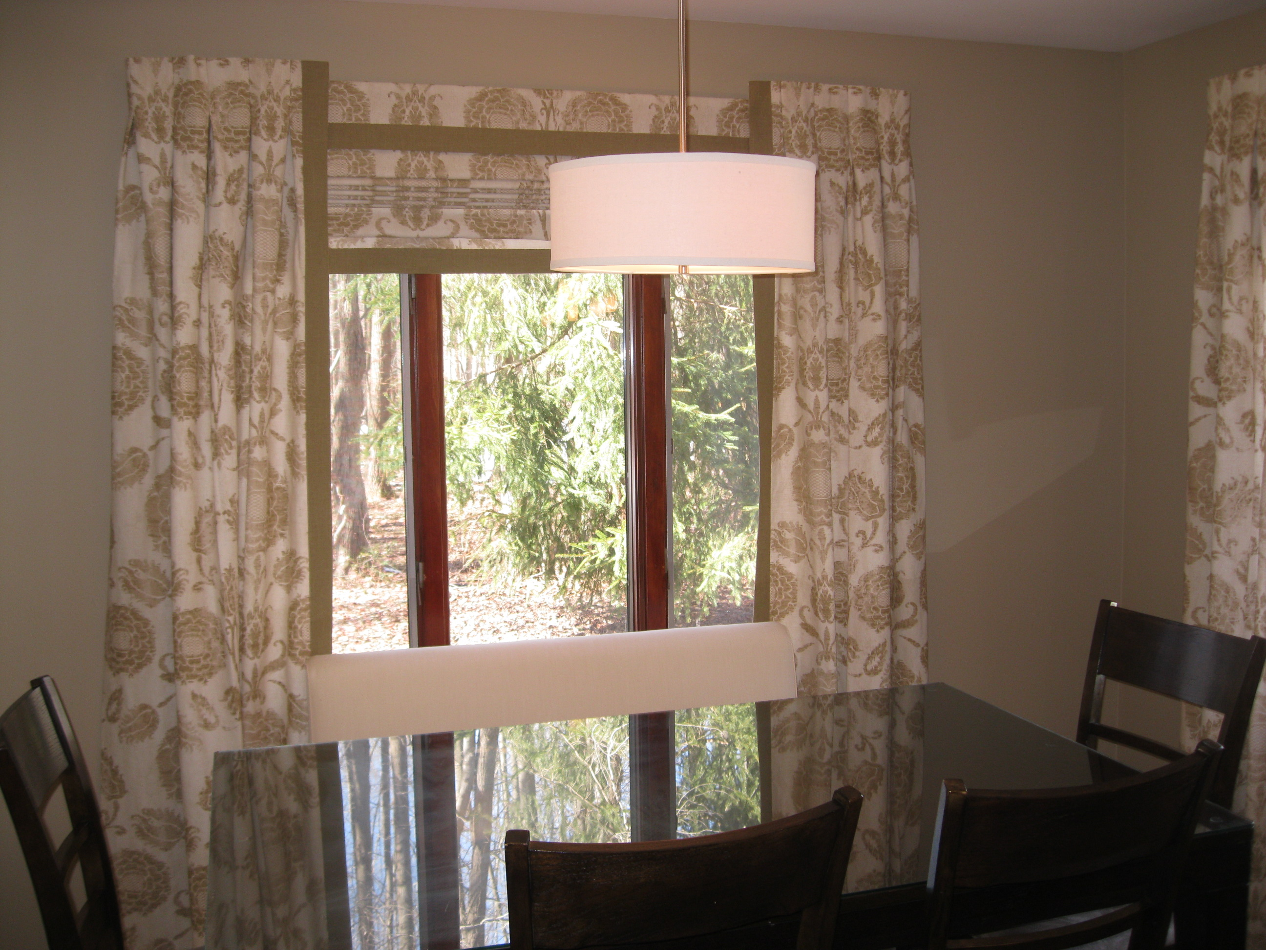 Roman Shades With Side Panels